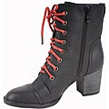 Elegant by Beston Women's 'Nercy-1' Black Lace-up Boots