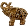 Brown Ceramic Elephant