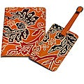 Vines Leather Luggage Tag and Passport Cover Set Made in India