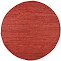 Hand Woven Matador Copper Leather Rug (6 x 6 Round)