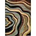 Waves Contemporary Tone & Tone Rug (9'3 x 12'6)