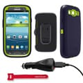 OtterBox Defender Protective Case for Samsung Galaxy S3 S III i9300 - Atomic With Car Charger, Velcro Tie