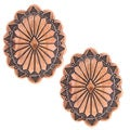 Southwest Moon Copper Concho Post Earrings