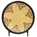 Casa Cortes Hand-painted Artisan Ceramic Decorative Charger Plate with Stand