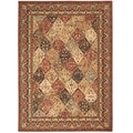 Arabesque Stratford Multi Brown Wool Rug (7'9 x 10'10)