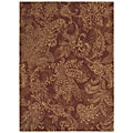 Pacifica Santa Barbara Firebrick Red Wool Rug (7'9 x 10'10)