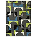 Studio 609 Geometric Design Charcoal Area Rug (5' x 7')