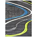 Studio 608 Wave Design Charcoal Area Rug (5' x 7')