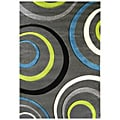 Studio 605 Geometric Design Charcoal Area Rug (5' x 7')