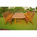 International Caravan Royal Tahiti Mayorga 9-Piece Outdoor Dining Set