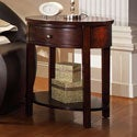 Neo Oval Espresso Accent Table Nightstand