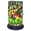Dragonfly Handcrafted Stained Glass Tiffany Style Mini Table Lamp