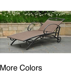 Lisbon Resin Wicker Contemporary Outdoor Multi Position Chaise Lounge
