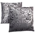 Abbyson Living Composure 18-inch Silver/ Black Decorative Pillows (Set of 2)
