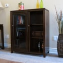 Essex Coffee Brown Medium Storage Media Cabinet &amp; Buffet