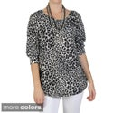 Tressa Designs Women's Contemporary Plus Scoop Neck Leopard Print Top
