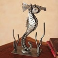 Handcrafted Recycled Auto Parts 'Lucky Seahorse' Sculpture (Peru)