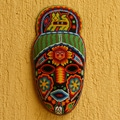 Handcrafted Beadwork 'Messenger' Huichol Mask (Mexico)