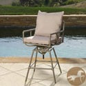 Christopher Knight Home Northrup Pipe Outdoor Adjustable Barstool