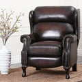 ABBYSON LIVING Vienna Hand Rubbed Top Grain Leather Pushback Recliner