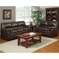Brown Bonded Leather 2-piece Sofa Set