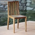 Handcrafted Reclaimed Teakwood 'Retro Rainbow' Chair (Indonesia)