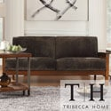 Tribecca Home Mission Dark Brown Champion Fabric Sofa