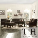 Tribecca Home Mission Dark Brown Champion Fabric 4-piece Sofa Set