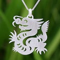 Sterling Silver 'Chinese Zodiac Dragon' Necklace (Thailand)