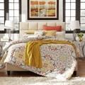 MID-CENTURY LIVING Fenton Column Upholstered Full-sized Bed