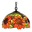Amora Lighting Tiffany Style 1-light Sunflower Pendant Lamp