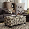 Kayla Fun Geometric Fabric Storage Bench Ottoman