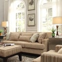 Kendrick Camel Brown Chenille Track Arm Sofa