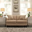 Kendrick Camel Brown Chenille Track Arm Loveseat