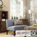 Kayla Denim Blue Linen Armless Loveseat