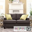 Middleton Charcoal Linen Tufted Sloped Arm Loveseat