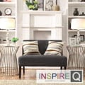 Kayla Ebony Linen Armless Loveseat
