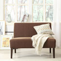 Kayla Chocolate Chenille Armless Loveseat