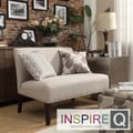 Inspire Q Kayla Grey Fabric Armless Loveseat