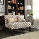 Kayla Primary Wavy Stripe Fabric Armless Loveseat