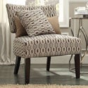 Kayla Chain-link Style Fabric/ Espresso Finish Accent Chair