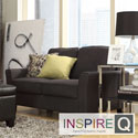 Inspire Q Hampton Charcoal Linen Upholstered Track Arm Loveseat
