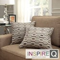 Inspire Q Kayla Chain-link Print 18-inch Square Throw Pillows (Set of 2)