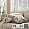 Inspire Q Kayla Floral Poppy Print Fabric 18-inch Square Throw Pillows (Set of 2)