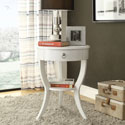 Neo White Oval Curvilinear Legged Nightstand