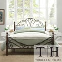 Tribecca Home LeAnn Graceful Scroll Bronze Iron Twin-size Poster Bed