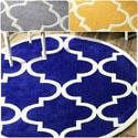 nuLOOM Handmade Luna Moroccan Trellis Round Rug (8' Round)