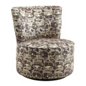 Moda Fun Geometric Print Modern Round Swivel Chair