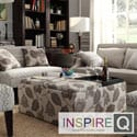 Inspire Q Avenue Floral Poppy Print Tray Top Storage Cocktail Ottoman