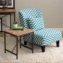 Chevron Cross Design End Table